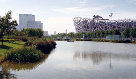 Dragon-shaped Water System of Olympic Park in Beijing